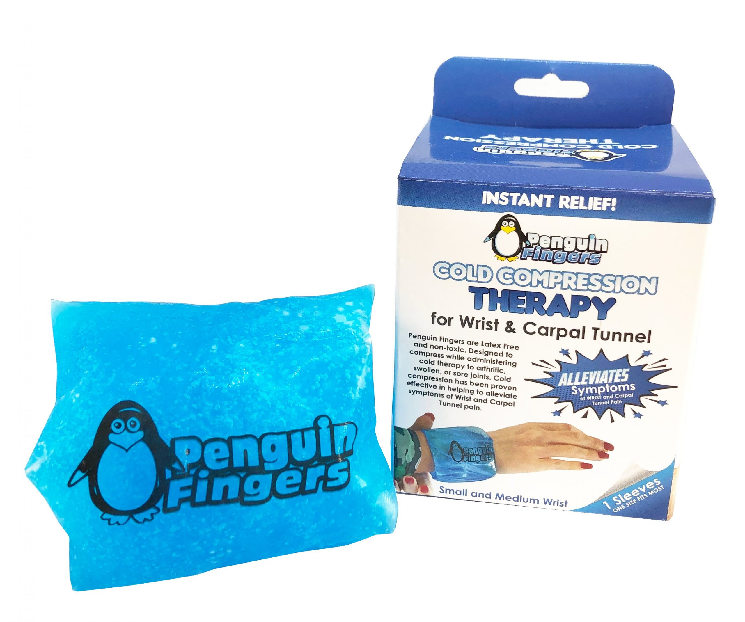 Finger and Toe Cold Gel Ice Pack, by Penguin Fingers.Compression Cold Pack for Fingers and Toes, Arthritis, Gout, Injuries. Cryotherapy Sleeve. Best Prices